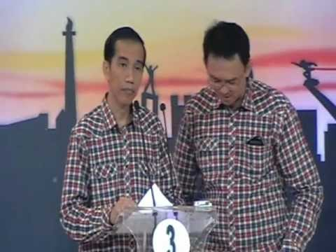 Jokowi Menjawab Pertanyaan Dari Panelis Debat Cagub DKI 2012