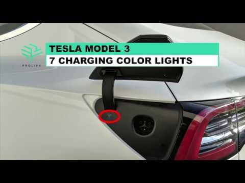 Tesla Model 3 - 7 Charging Color Lights Meaning