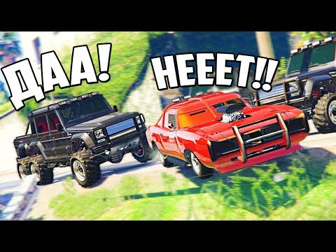 GTA 5 COPS & ROBBERS - НЕПОБЕДИМАЯ МАШИНА ПРОТИВ ГЕЛИКА 6х6! ПОГОНЯ НАРУШАЯ ВСЕ ПРАВИЛА РП И ПДД!
