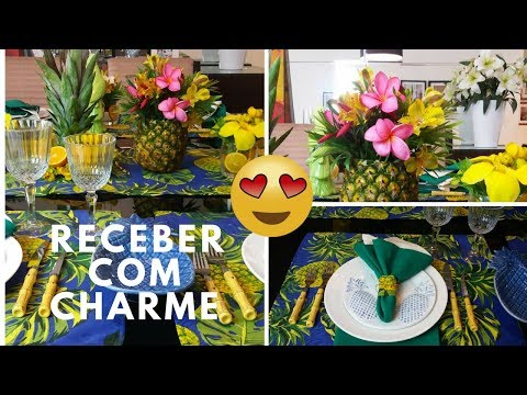 mesa-posta-de-abacaxi/-receber-com-charme