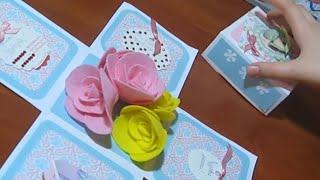 Подарок Маме своими руками. Коробочка с цветами. МК Поделки ко Дню Матери.