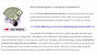 Forex Ultimate System Review