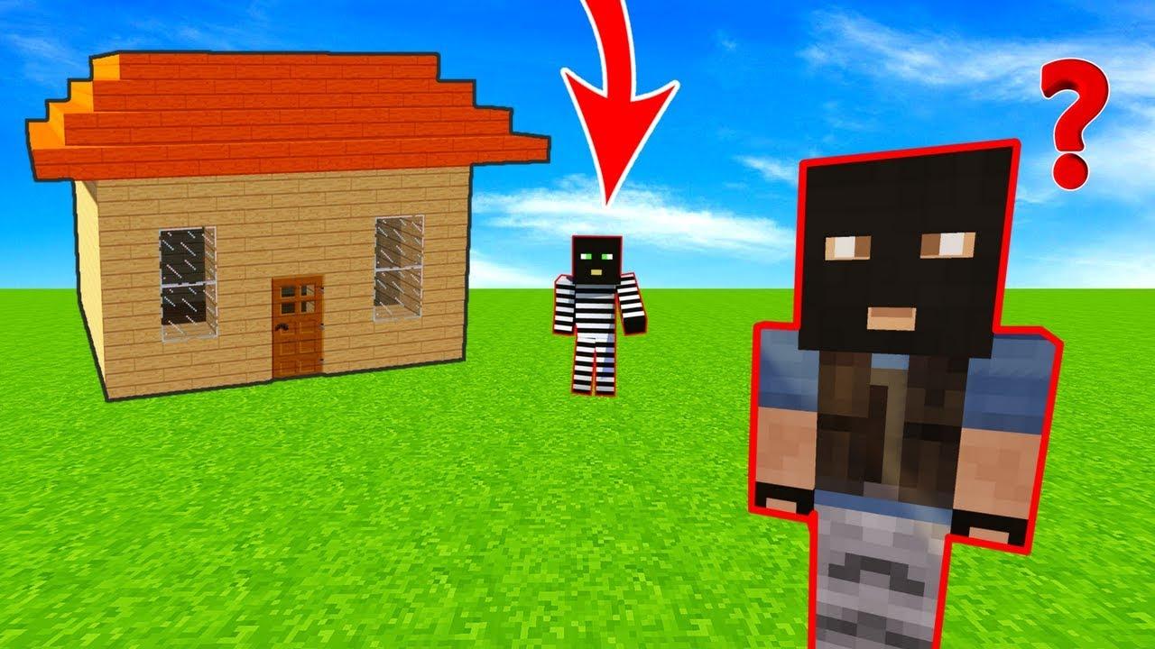 HIRSIZ VS POLİS #100 - Hırsızın Evini Hırsız Soyuyor (Minecraft)