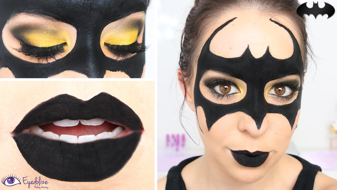 EASY Batman Mask Makeup Tutorial by EyedolizeMakeup & EASY Batman Mask Makeup Tutorial by EyedolizeMakeup - YouTube