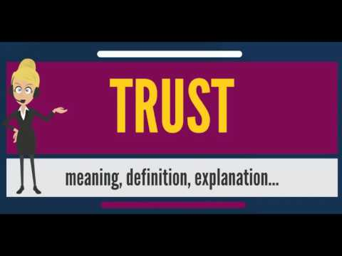 What is TRUST? What does TRUST mean? TRUST meaning, definition, explanation & pronunciation
