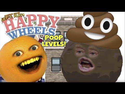 Annoying Orange Plays - Happy Wheels: POOP Levels!