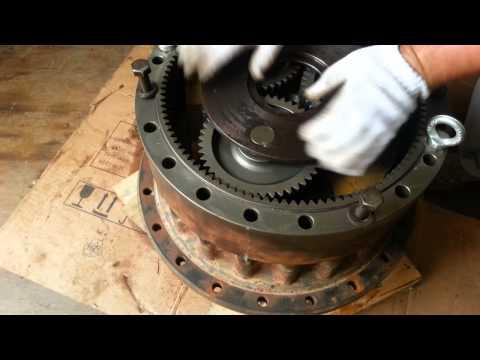 Бортовой редуктор экскаватора Komatsu PC300-7, ремонт, сборка