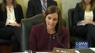 "Sen. Martha McSally delivers a statement during a Senate Armed Services Committee hearing on Military Sexual Assault. ""My drive to fight against sexual ..."