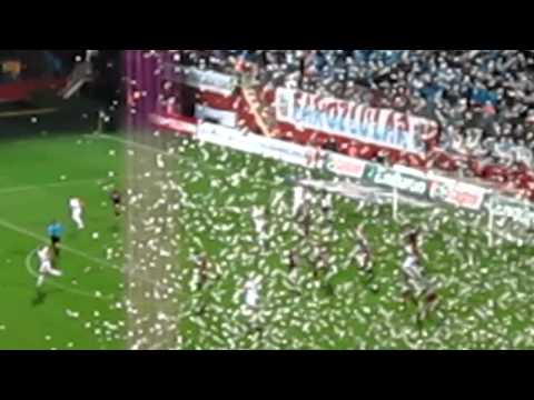 Trabzonspor 61st minute celebration on a windy day.MOV