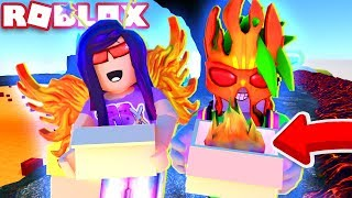 WE GOT OVER POWERED LAVA HATS in Roblox Unboxing Simulator!