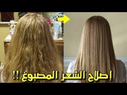 4947eb7e8 ماسك رهيب لعلاج الشعر المصبوغ المتقصف التالف والمجعد - YouTube