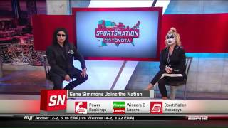 Gene Simmons on ESPN SportsNation talking LA KISS Football 5/16/14