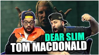 """DEAR TOM, MAD RESPECT FOR THIS!! Tom MacDonald - """"Dear Slim"""" (PRODUCED BY EMINEM) *REACTION!!"""