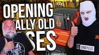 OPENING REALLY OLD CS:GO CASES (BRAVO, ESPORT ETC)