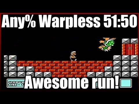 Super Mario Bros 3. any% warpless 51:50 Awesome Run!
