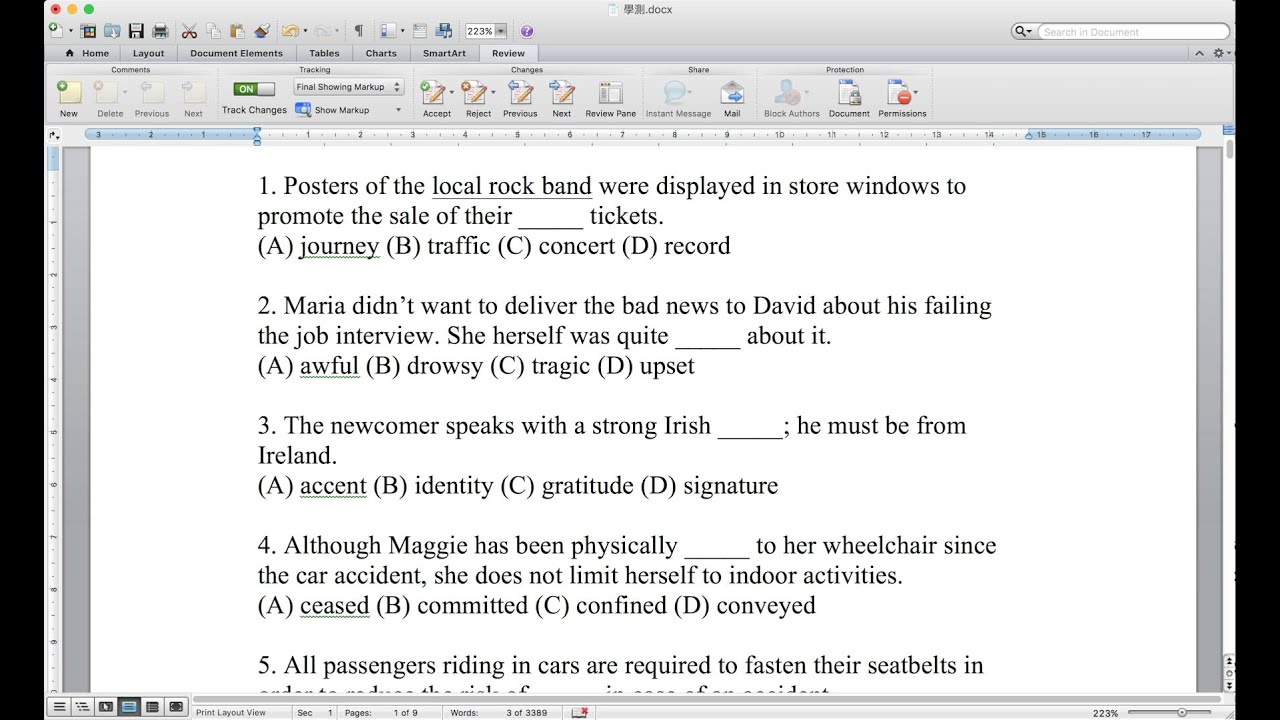 105年大學學測「英文科」解答與詳解 01 字彙題 01 C - YouTube