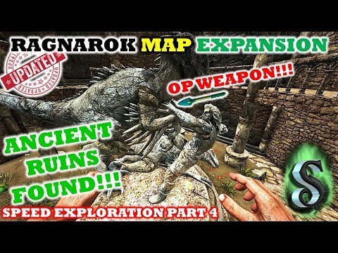 RAGNAROK - NEW MYSTERIOUS RUINS DISCOVERED - E4 - FOUND SUPER OP VIKING WEAPON !!! ARK PATCH 265