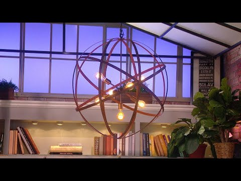 "The ""Property Brothers"" DIY a $400 Orb Chandelier For $20"