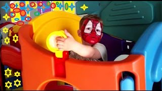 Little Spiderman Adventures. Indoor Playground With Many Toys For Kids And Children. Cool Video Fun