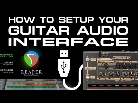How to setup your USB Audio Interface [GUITAR - REAPER].