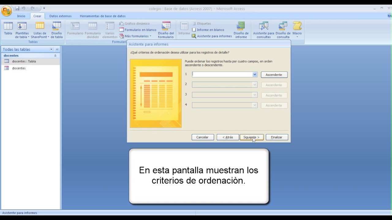 Access 2007 Informes - YouTube