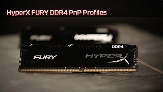 Автоматический разгон с модулем памяти HyperX FURY DDR4