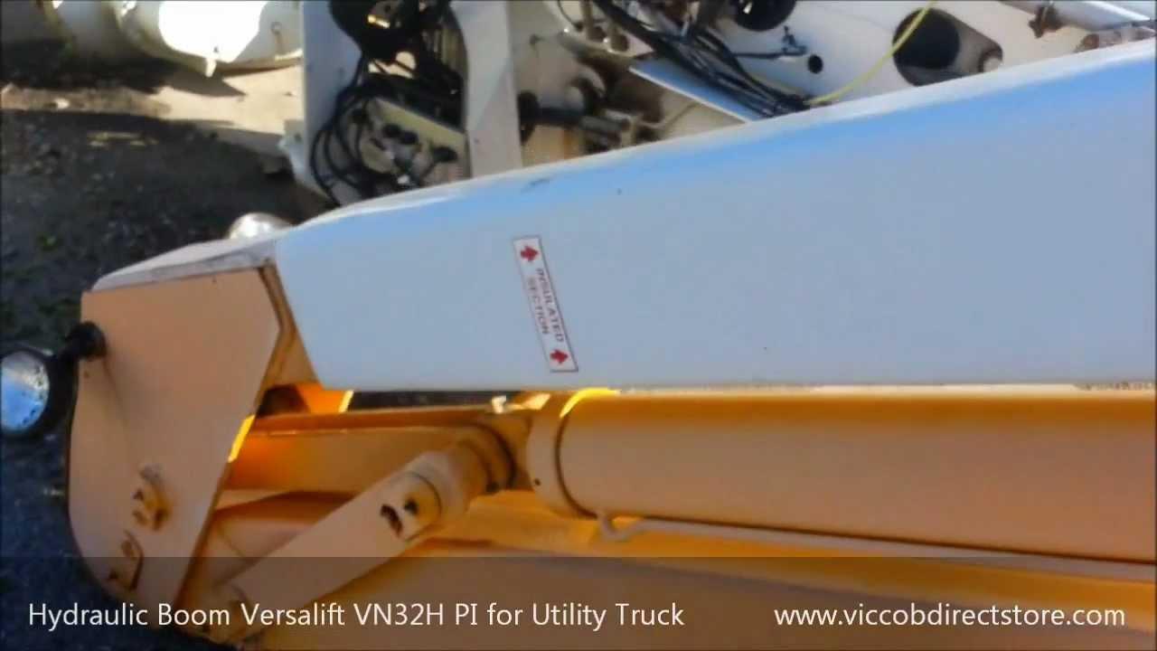 medium resolution of hydraulic boom versalift vn32h pi year 1990 for utility bucket truck youtube