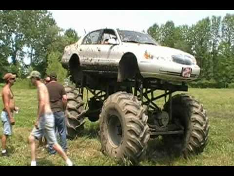 Monster Trucks Mudding Harold And Kirbey S Mega Trucks Barnyard Boggers Youtube