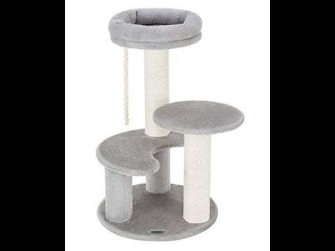 Ollieroo Small Cat Tree Sisal Scratching Post Furniture Playhouse Pet Bed Kitten Toy Cat Tower Condo