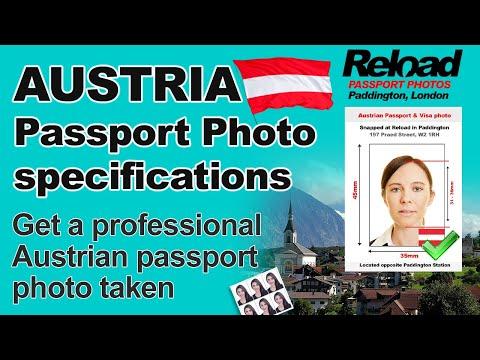 Austrian Passport Photo And Visa Photo Snapped Instantly In Paddington, London