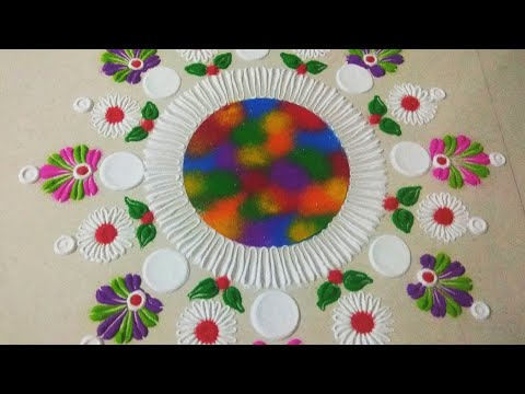 Very Easy Rangoli Design by Shilpa
