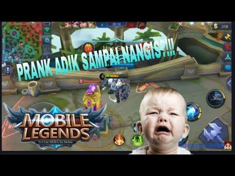 PRANK ADIK SAMPAI NANGIS?!!!MOBILE LEGEND #2