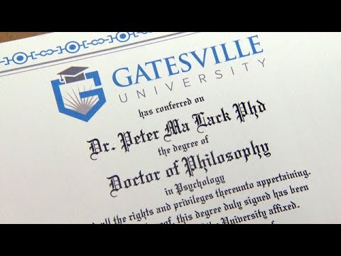 Fake degrees: Exposing