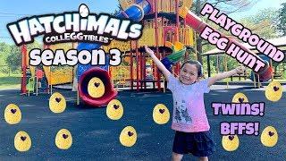 NEW Hatchimals CollEGGtibles Season 3 - Twins and Best Friends! Playground Egg Hunt - Episode 1