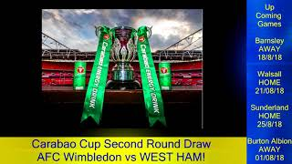 Womble Watch 17/8/18 - Carabao Cup Second Round Draw!
