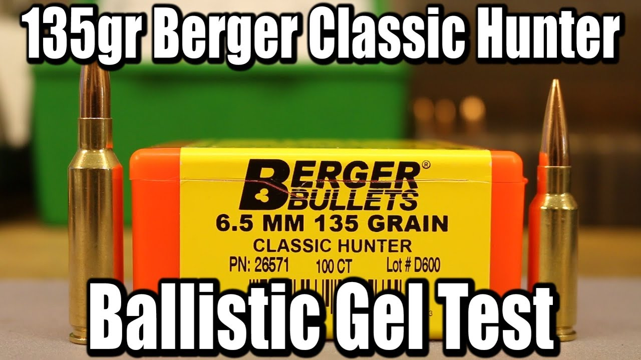 135gr Berger Classic Hunter - Expansion tests in Creedmoor and Grendel