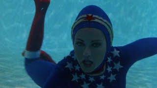 Wonder Woman diving - underwater scenes - Bermuda Triangle Crisis HD