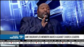 Disgruntled Methodist church members march against their leaders