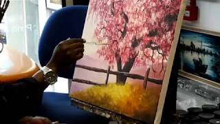 How to paint Blossom Tree