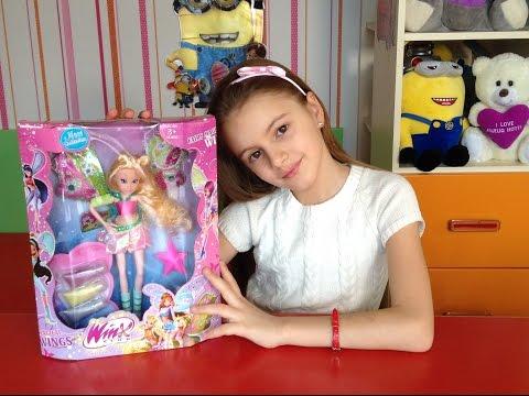 Видео - обзор куклы  Winx Флора. Открываем  и играем в куклы из серии Winx.