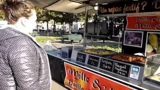 Отрывок прогулки по рынку , во Франции