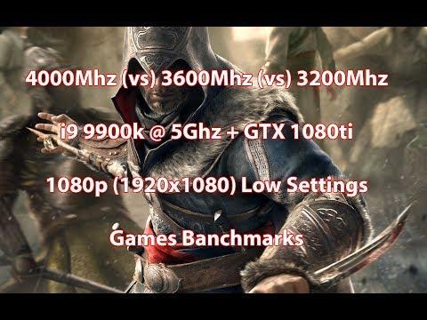 4000Mhz C16 (vs) 3600Mhz C15 (vs) 3200Mhz C14 , i9 9900k 5Ghz 1080p