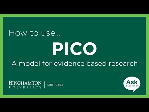 PICO: A Model for Evidence Based Research