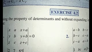 12 th (NCERT) Mathematics-Determinants | EXERCISE-4.2 Ques. 1 to 6 (Solution)|Pathshala (Hindi)