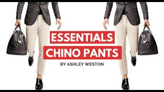 Chino Pants - Men's Wardrobe Essentials - Khakis Chinos Navy Tan Brown