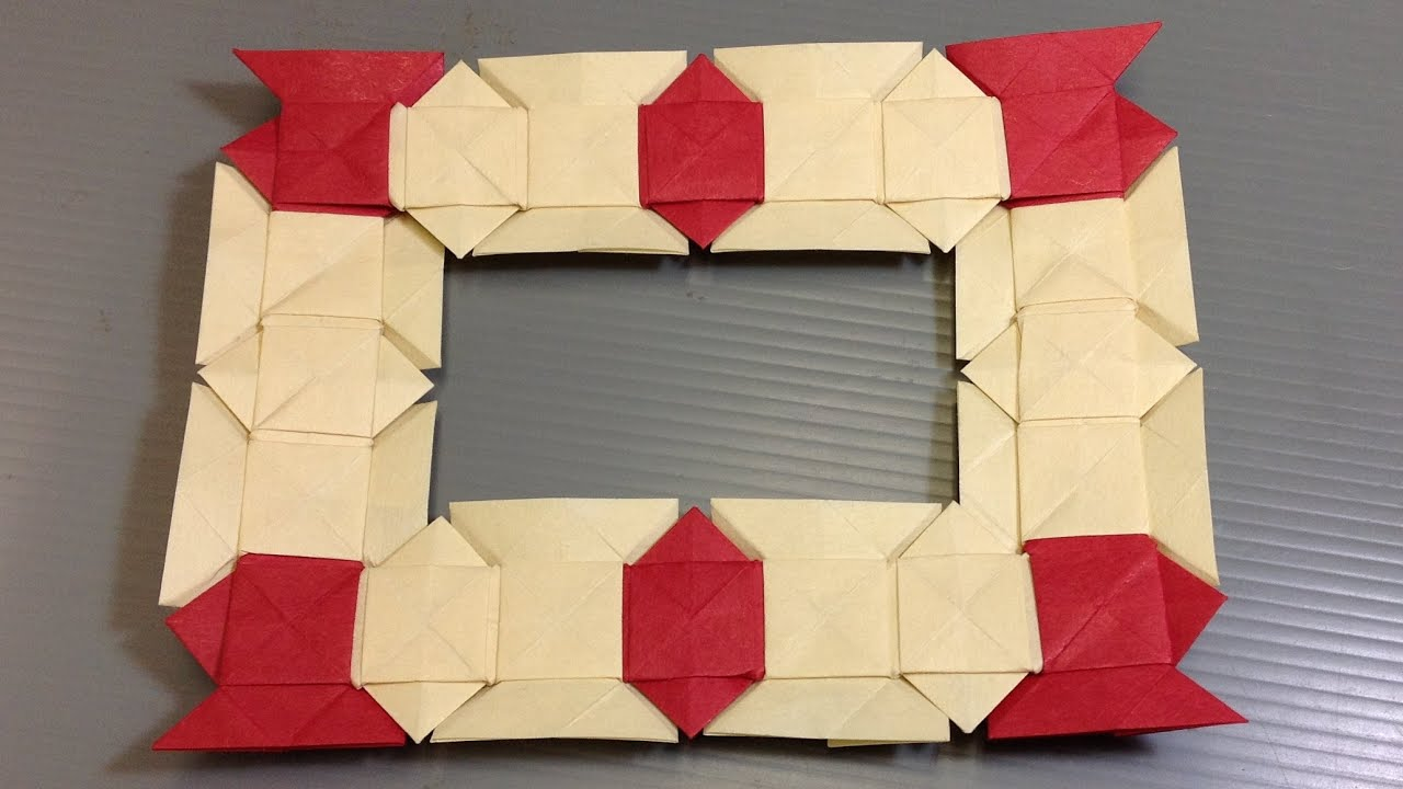Make Your Own Gift Origami Modular Frame - YouTube
