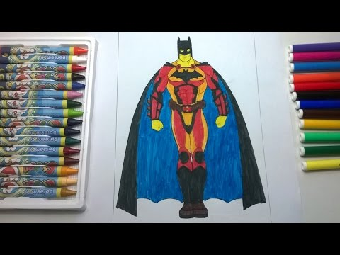 Coloring Batman in your own way   Education for Kids