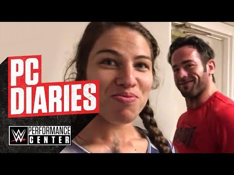 Roderick Strong & Marina Shafir prepare for an NXT Live Event