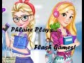 Flash Games -- Elsa and Rapunzel College Girls -- MASTER OF MAKE-UP!!!