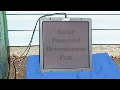 Solar Powered Greenhouse Fan - Test